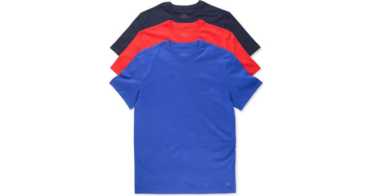 vollständig in den Spezifikationen großartige Qualität 2019 authentisch Tommy Hilfiger Green Men's Classic Crew T-shirts 3-pack for men
