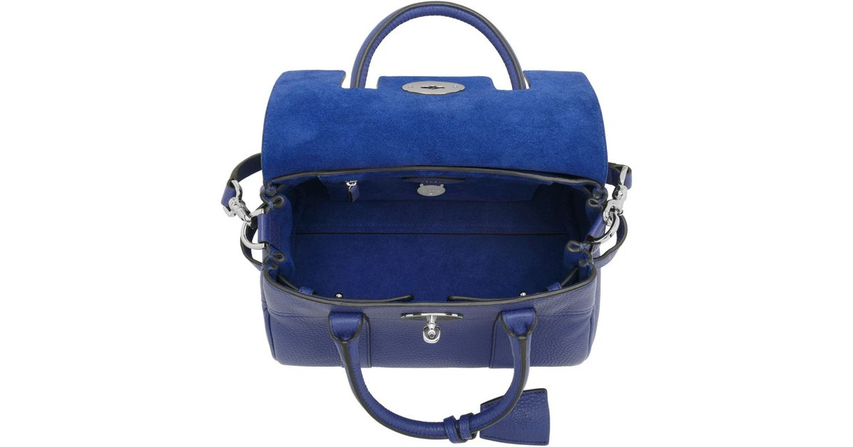 07dd75f697 low cost lyst mulberry small bayswater satchel in blue 6844e 462d9
