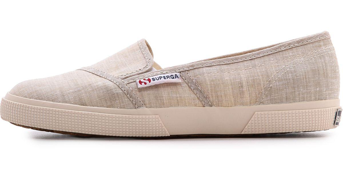 Slip Natural Cotu Sneakers Superga Sand On Lyst DEH92I