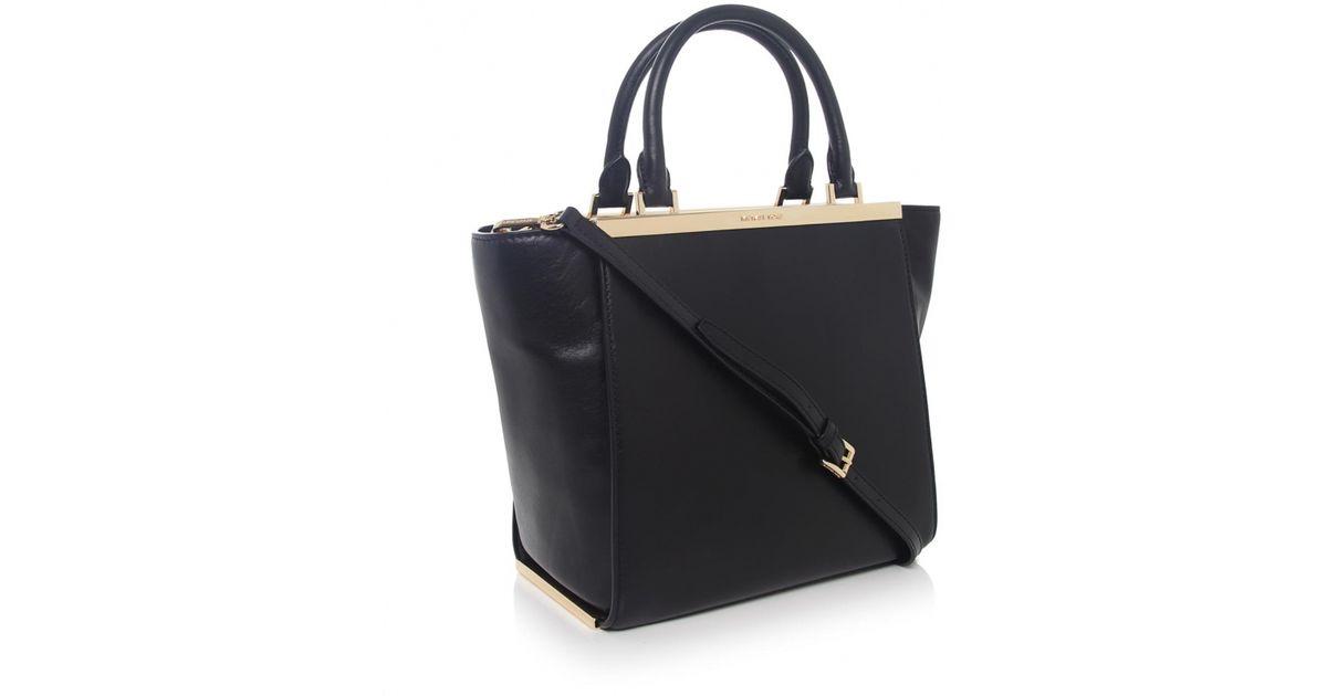 815870662b68ca MICHAEL Michael Kors Lana Medium Leather Tote Bag in Black - Lyst