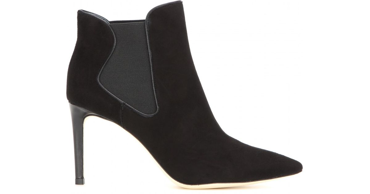 96a2a07b3f3 Lyst - Tory Burch Dorset Suede Ankle Boots in Black