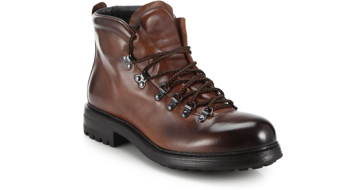 To boot Bryan Leather Alpine Boots in Brown for Men | Lyst