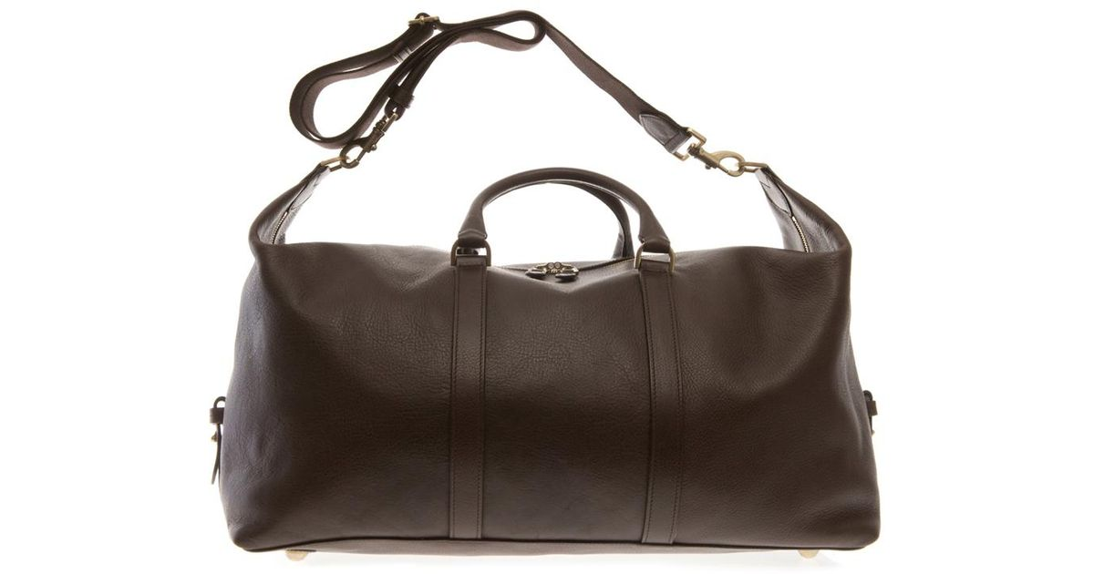 9562e3a618 ... uk lyst mulberry clipper leather weekend bag in brown for men e6dc4  5cd92 ...