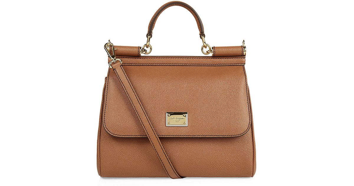 3ee3d6d02920 Dolce   Gabbana Medium Miss Sicily Classic Tote in Brown - Lyst