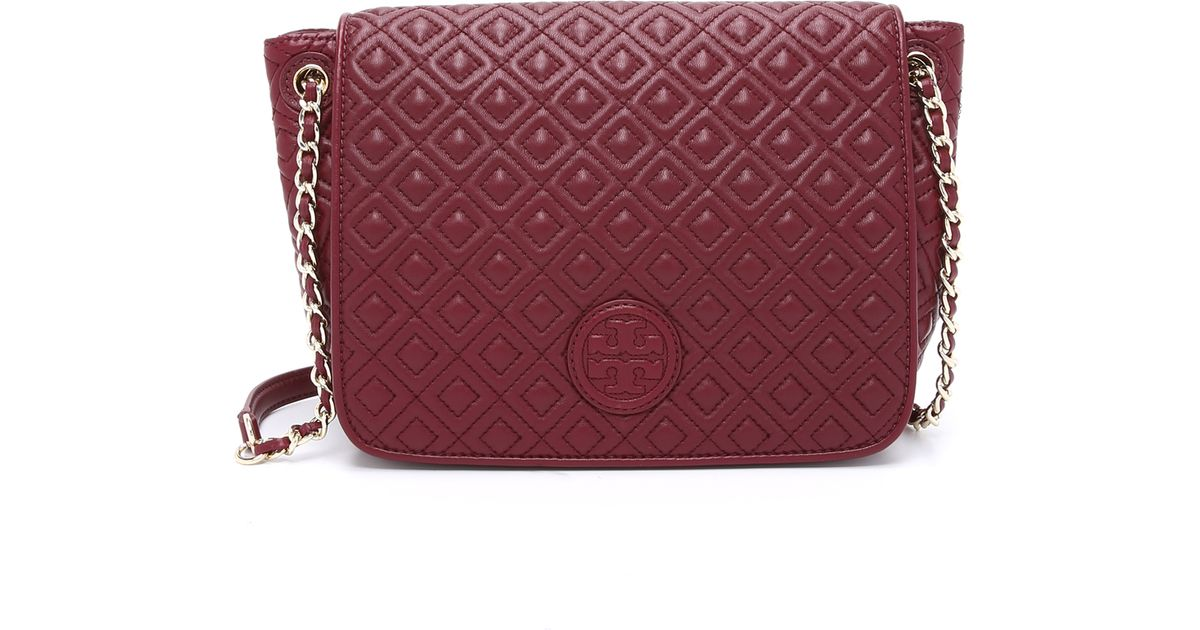Tory burch Marion Quilted Shoulder Bag - Red Agate in Red | Lyst : marion quilted tory burch - Adamdwight.com