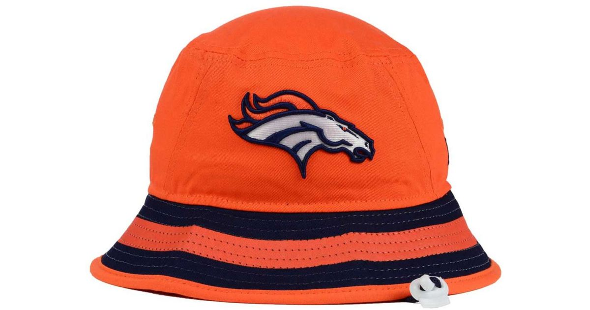 Lyst - KTZ Denver Broncos Team Stripe Bucket Hat in Orange for Men 15540e9a6ad