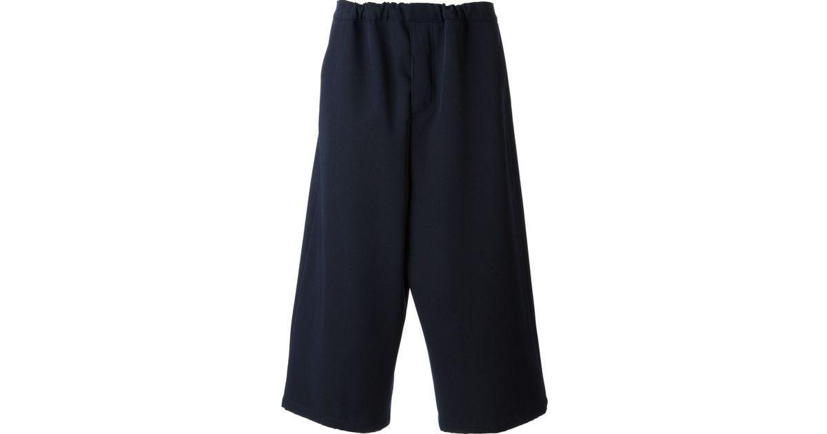 cropped straight leg trousers - Blue Soci SVicKX