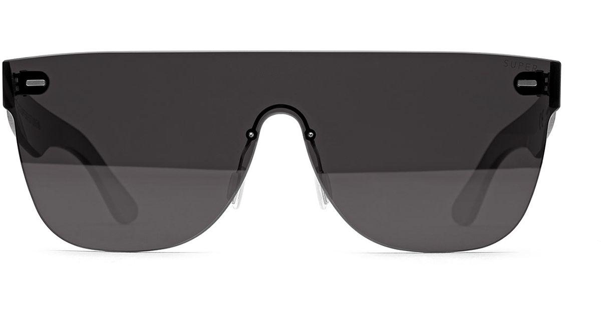 6846887456d8 Lyst - Retrosuperfuture Tuttolente Flat Top Sunglasses in Gray