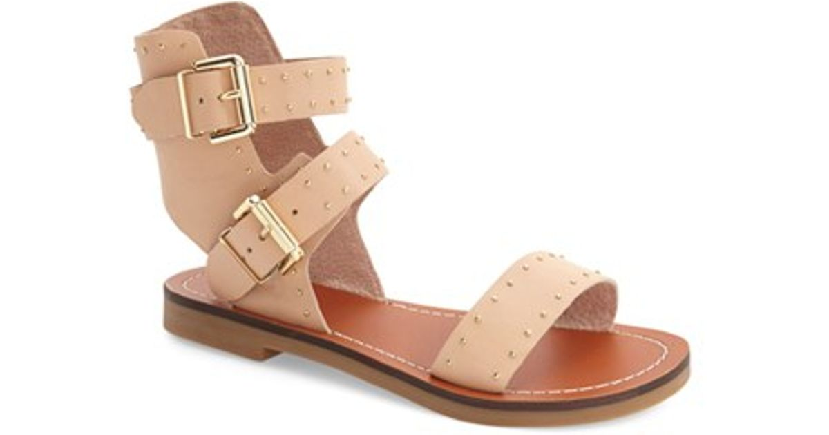 latest fashion hot new products shades of TOPSHOP Natural Flower Studded Leather Sandal