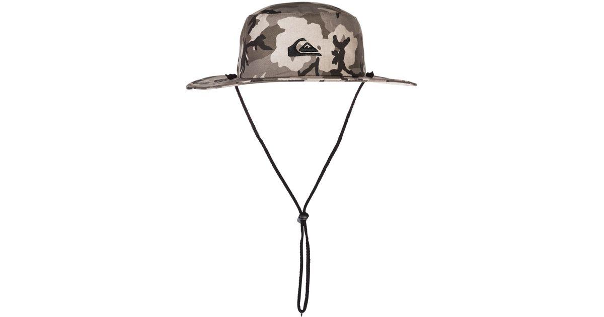 db7f0c2a ... sale lyst quiksilver bushmaster hat in green for men 675f2 0755b