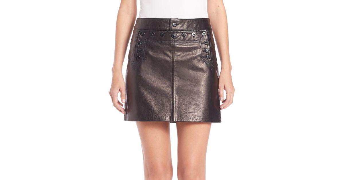Ih2wde9 Lauren Ralph Leather Black Skirt Polo Mini W9YEDH2I