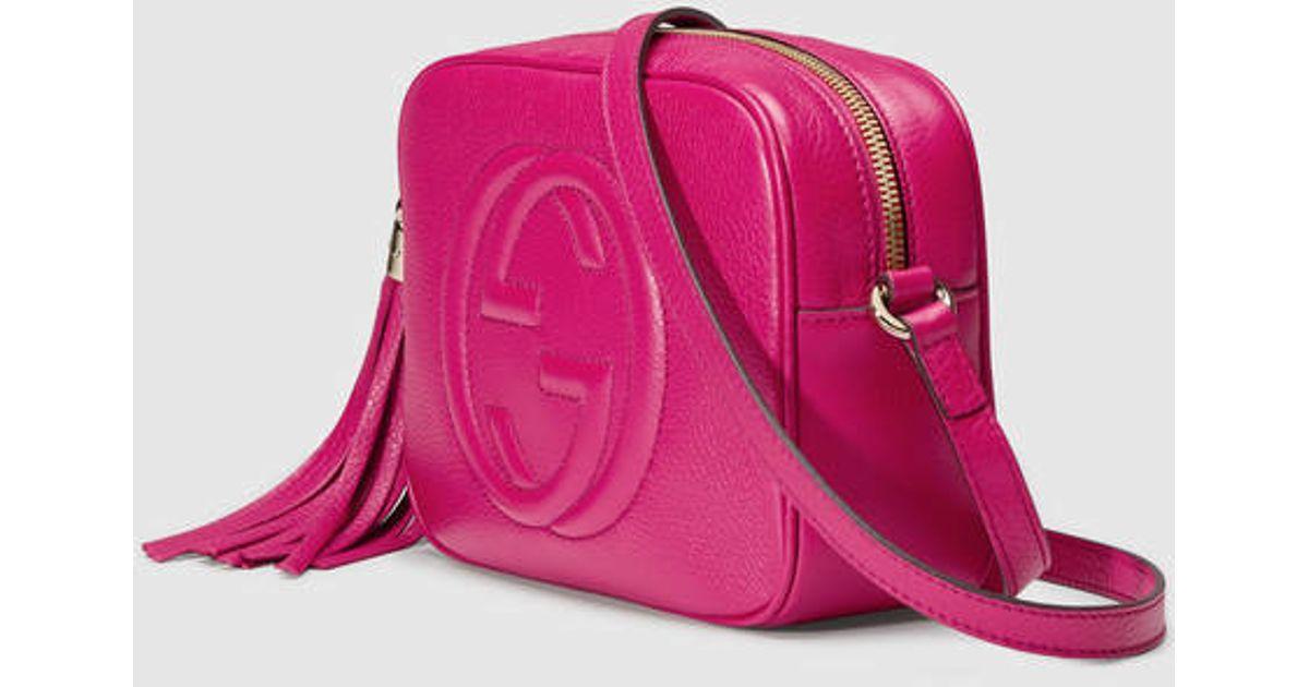 f1f80d201c6 Lyst - Gucci Soho Leather Disco Bag in Purple