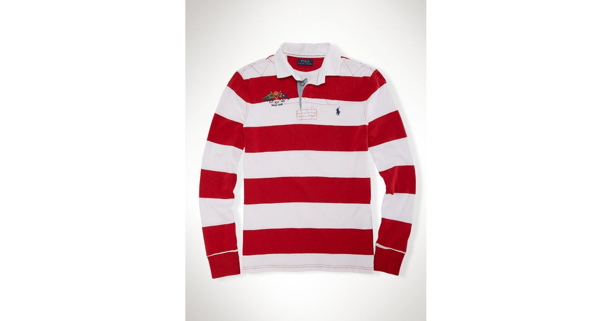 Ralph Lauren Classic Custom-Red Striped Big Pony