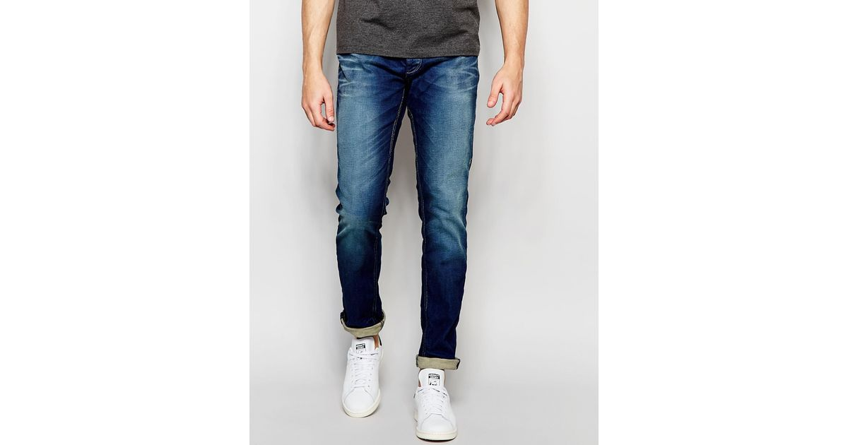 jack jones slim fit jeans in blue in multicolor for men. Black Bedroom Furniture Sets. Home Design Ideas