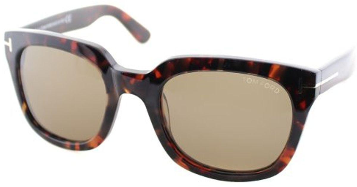 31db139da3 Lyst - Tom Ford Tf 198 Campbell 56j Square Plastic Sunglasses in Brown