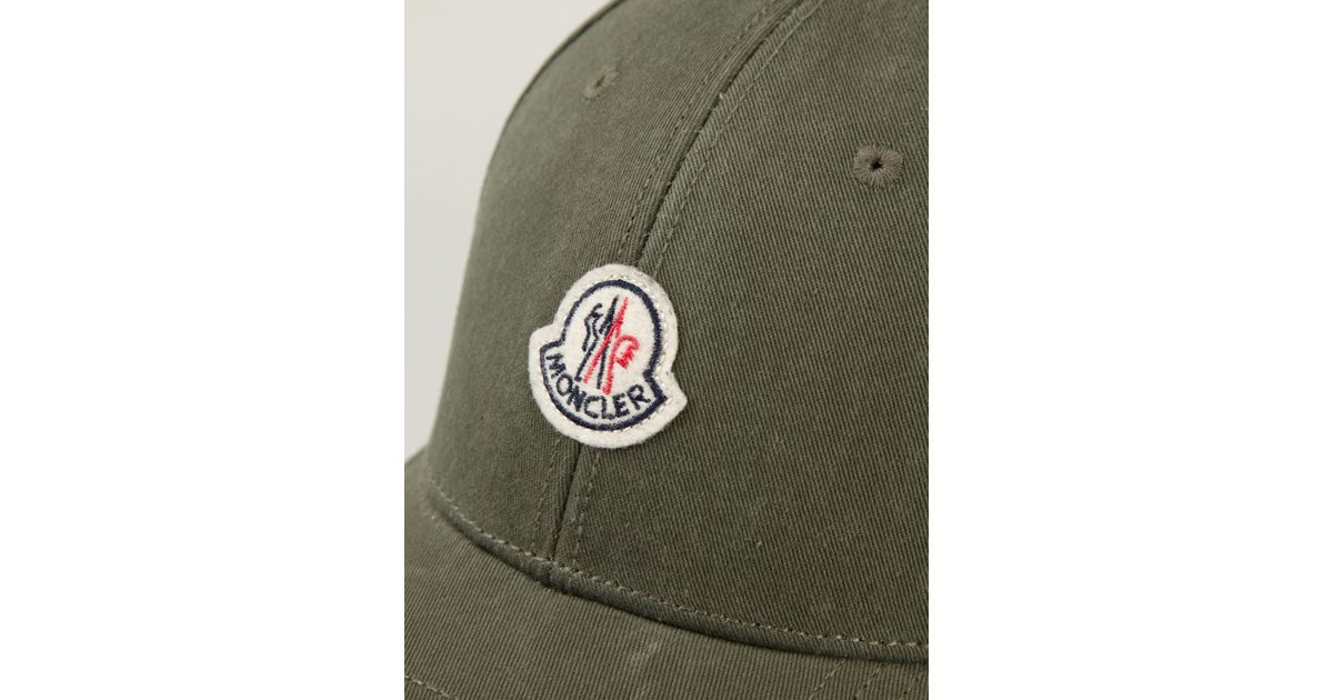 9bc73db5967 Moncler Classic Baseball Cap in Green for Men - Lyst