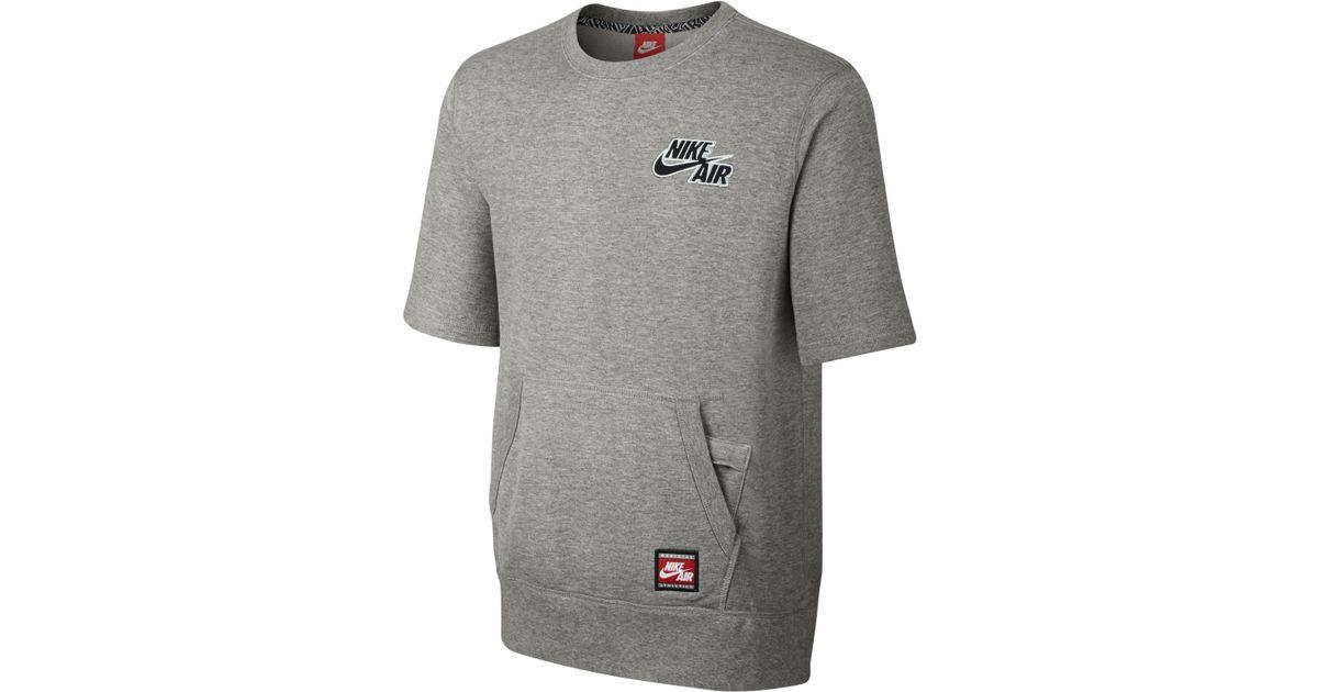 Nike Men's Air Short-sleeve Pullover Sweatshirt in Gray for Men | Lyst