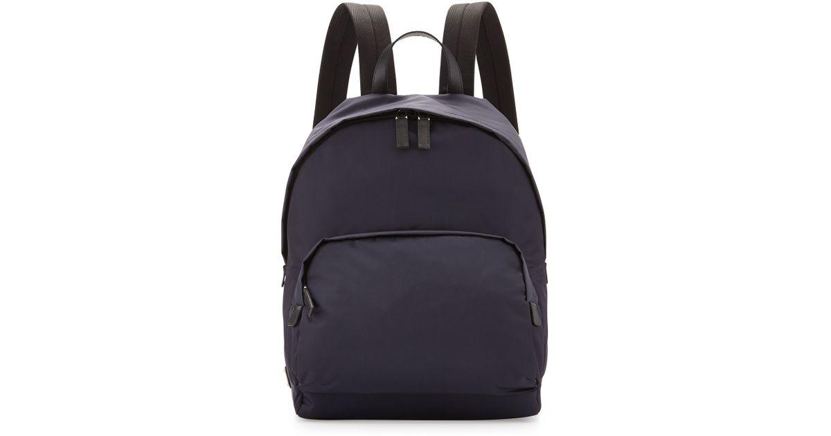 ... good lyst prada zaino mens clean nylon backpack in blue for men 99815  e06cd bebb916e18f0d