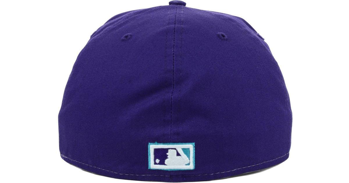 77d08e28d87bf Lyst - KTZ Arizona Diamondbacks Mlb High Heat 59Fifty Cap in Purple for Men
