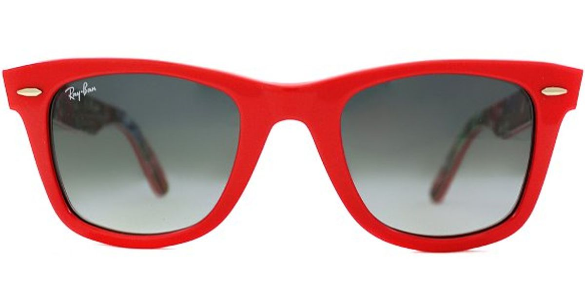 f30fc80d73 ... spain lyst ray ban ray ban rb2140 original wayfarer 113971 coral red on  surfs up rare