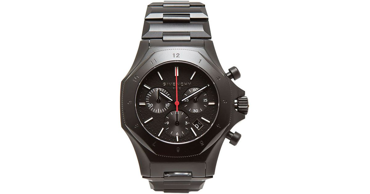 Givenchy watch in black lyst for Givenchy watches