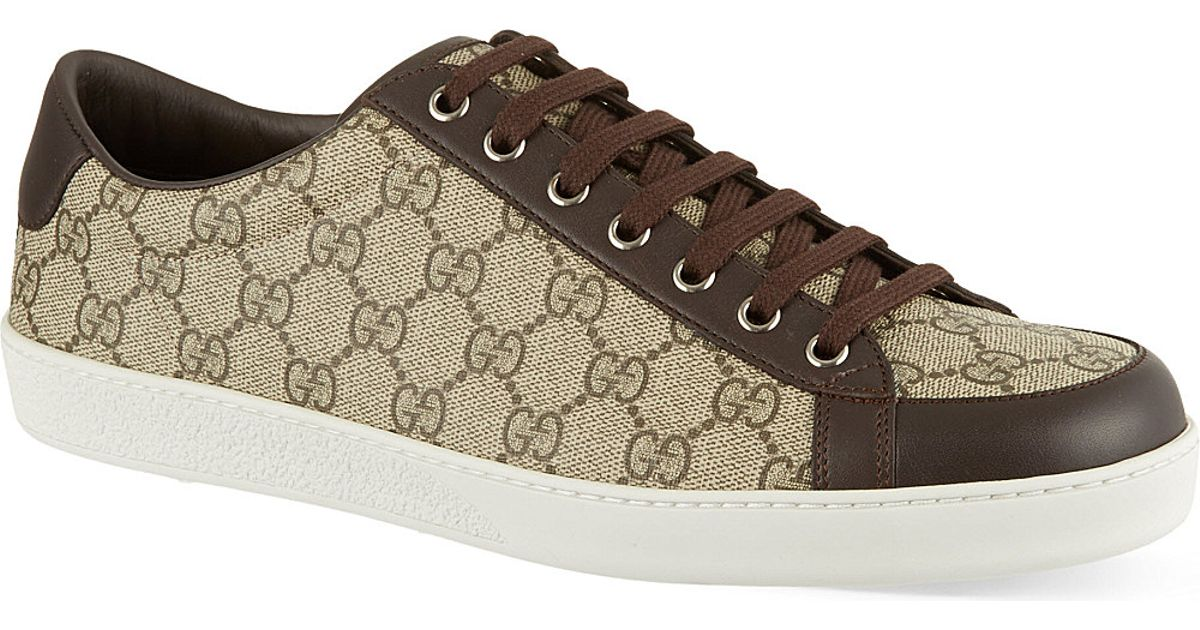 4579ff4c Gucci Brown Brooklyn Gg Low Top Trainers for men