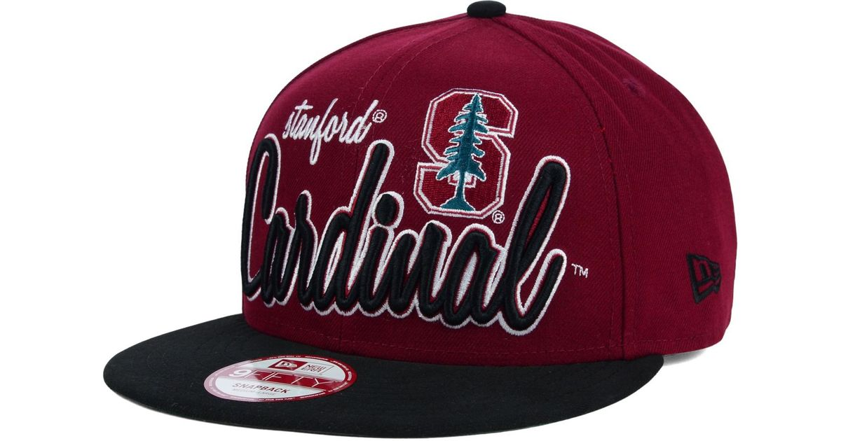 reputable site 6dd15 226dc KTZ Stanford Cardinal Team Script 9Fifty Snapback Cap in Red for Men - Lyst