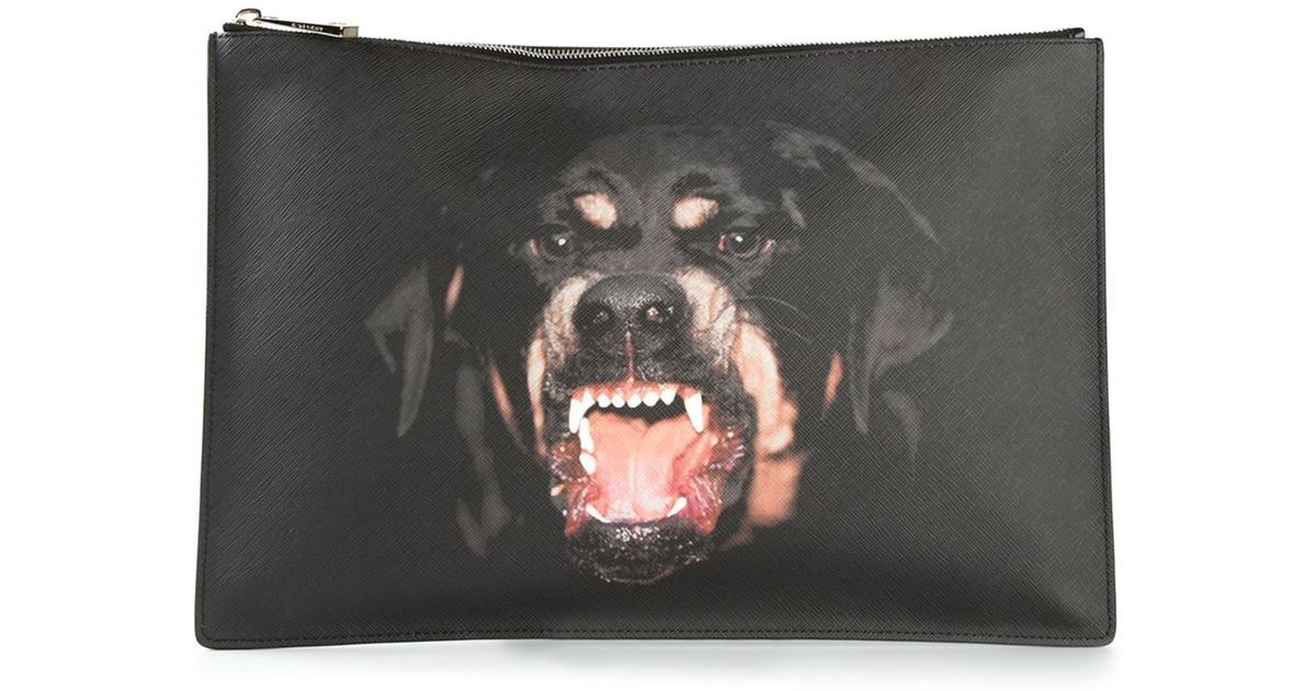 Lyst - Givenchy Rottweiler Print Clutch in Black for Men 15c594b3120d0