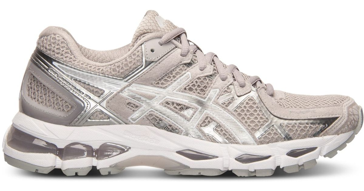 low priced 06596 ff7e6 Asics Women s Gel-kayano 21 Running Sneakers From Finish Line in White -  Lyst