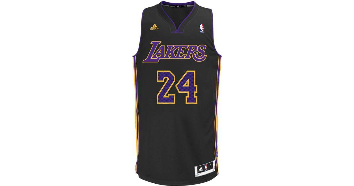 quality design b8970 f36a5 Adidas Black Men'S Los Angeles Lakers Kobe Bryant Revolution 30 Swingman  Pride Jersey for men