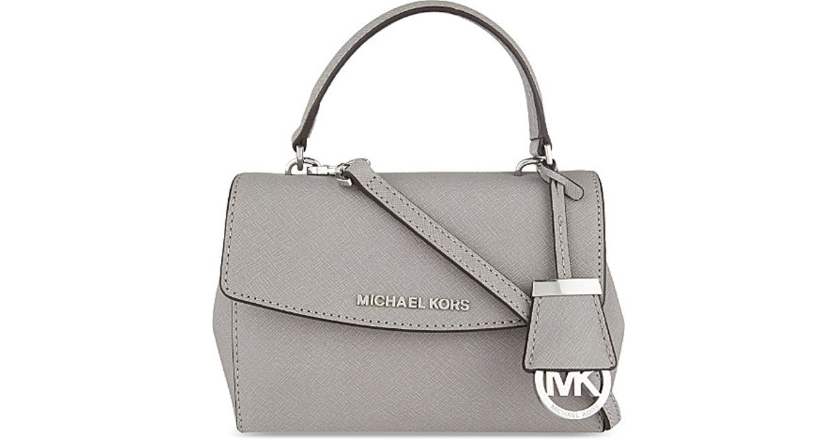 d693fa0803 shopping lyst michael michael kors ava extra small saffiano leather cross  body bag in gray 505d5