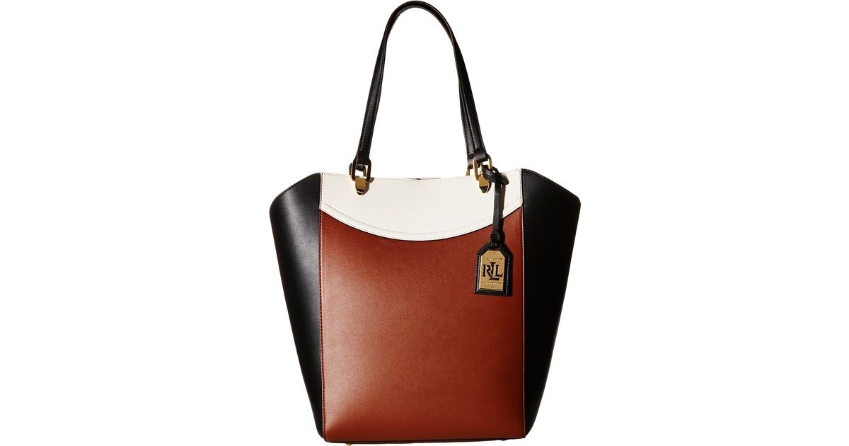 Ralph Lauren Tote Laukku : Lauren by ralph lexington tricolor tote in black