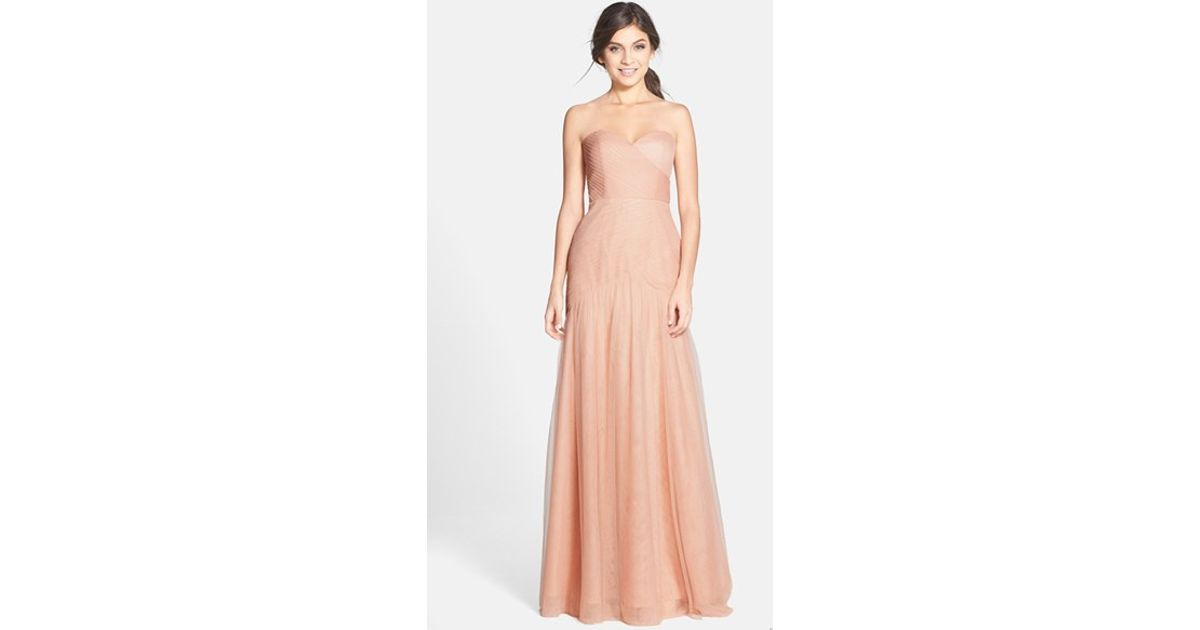 0a3a021ed5 Lyst - Jenny Yoo  ava  Cross Paneled Tulle Gown in Pink