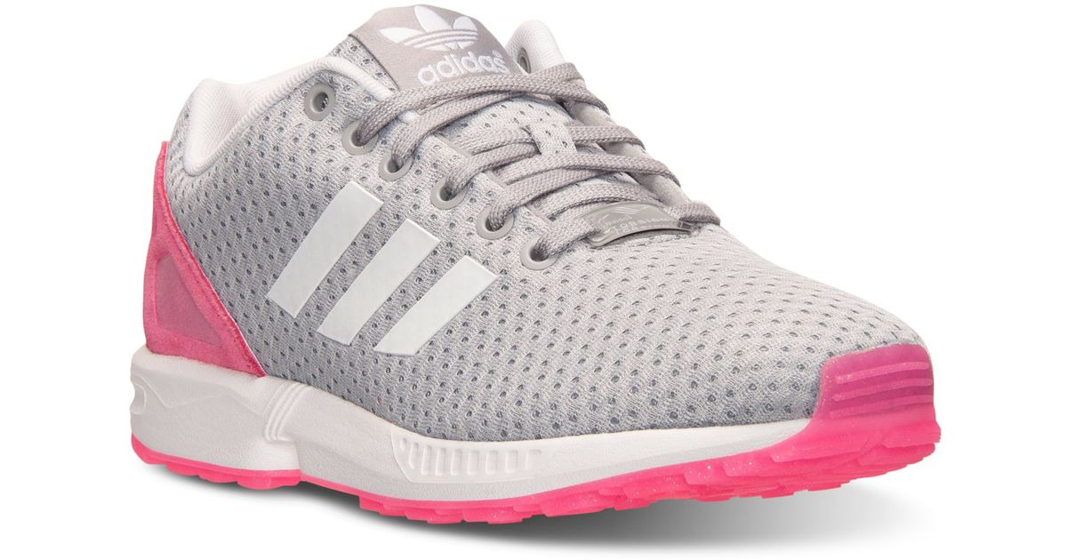 Adidas Originals Pink Women's Zx Flux Casual Sneakers From Finish Line