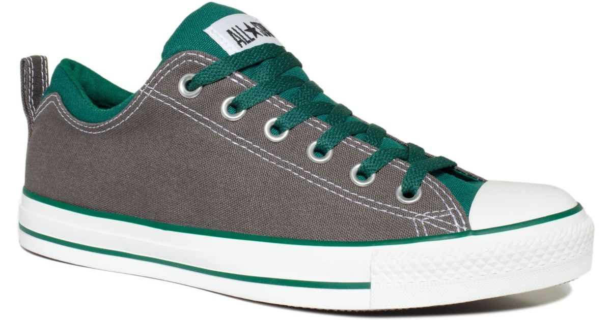 Converse Chuck Taylor Dual Collar Oxford Sneakers in Charcoal ...