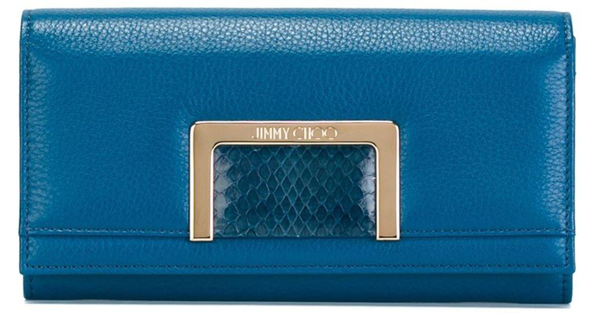 217031f3917 Lyst - Jimmy Choo 'remy' Wallet in Blue