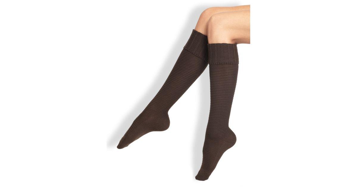 809869bc9 Falke Ribbed Knee High Socks in Brown - Lyst