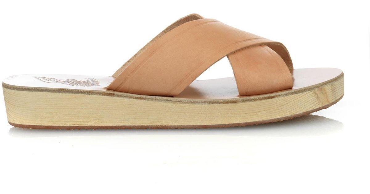 Leather Thais Ancient Greek Sandals Natural Platform WDeH29IYEb