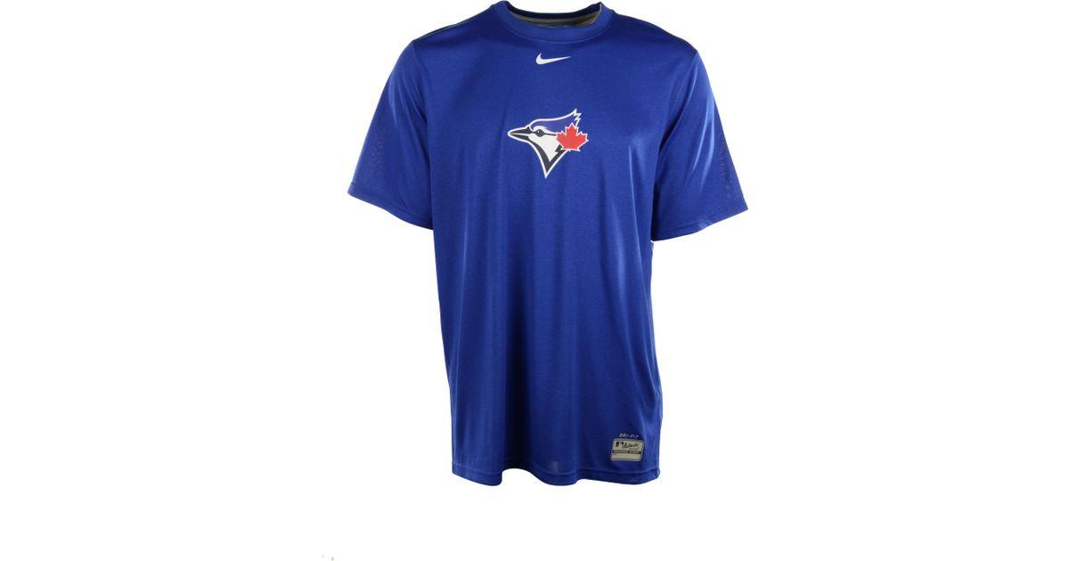 fcb36034e3a Nike Mens Shortsleeve Toronto Blue Jays Drifit Tshirt in Blue for Men - Lyst
