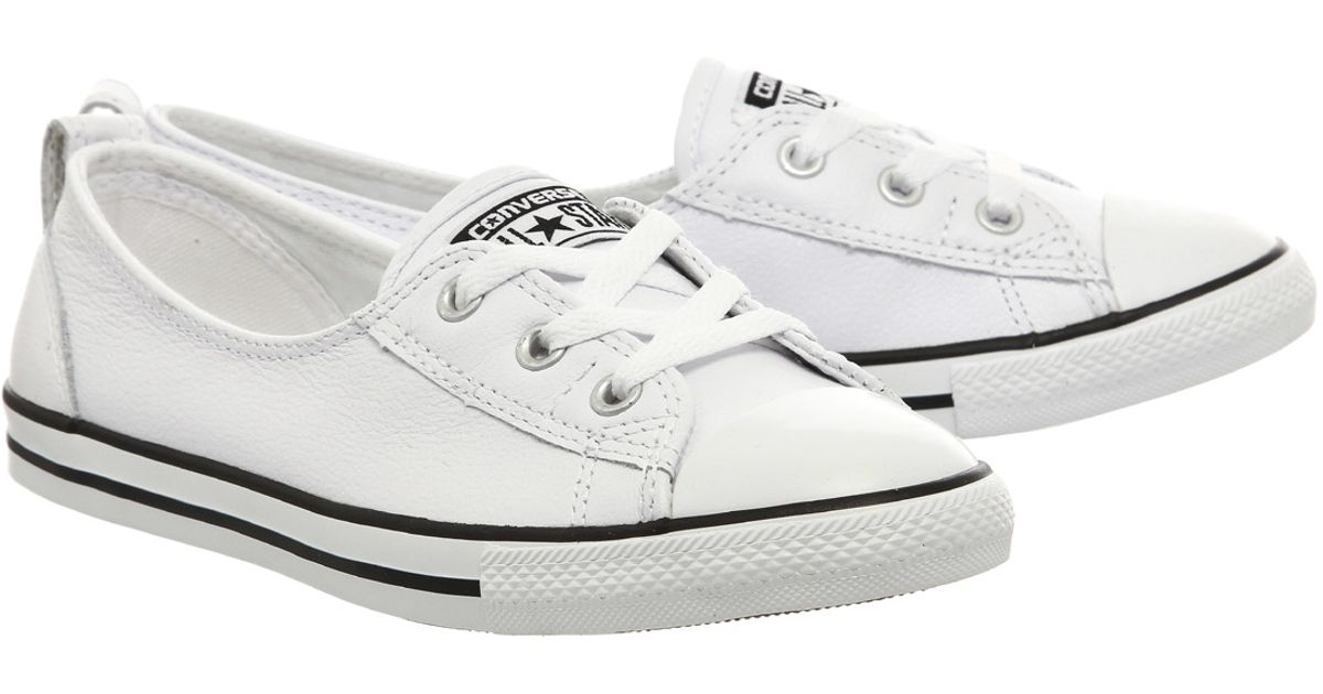 Womens CONVERSE CTAS Ballet Leather White Leather Upper