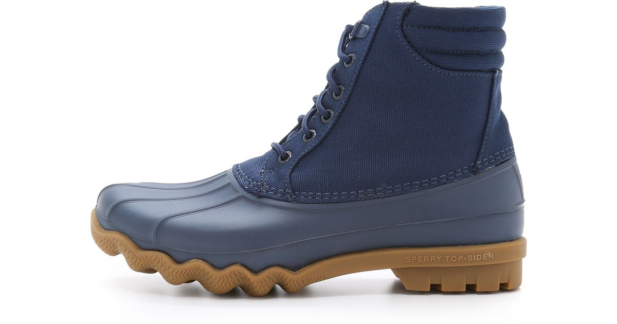 sperry top sider japanese tonal avenue duck boots in blue