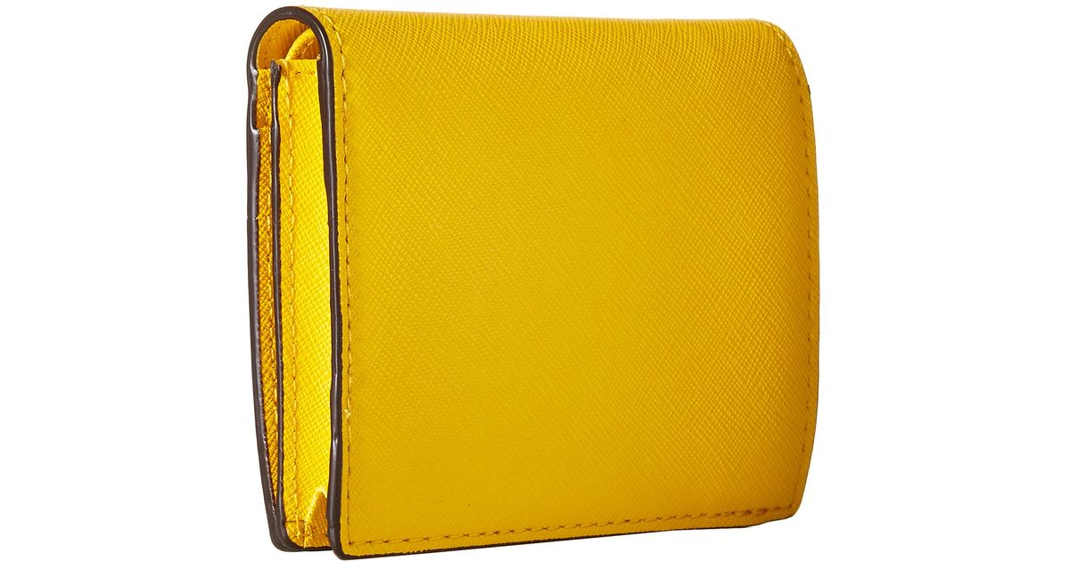 05162c0c49b4 Lyst - MICHAEL Michael Kors Jet Set Travel Flap Card Holder in Yellow