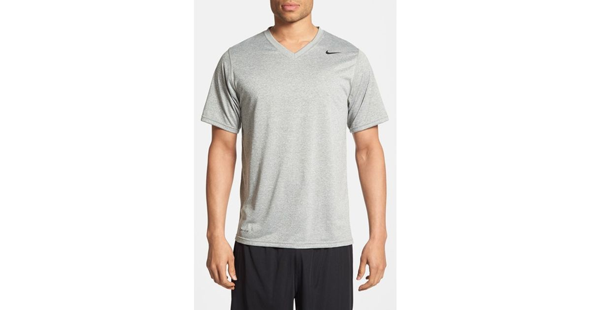 nike v-neck active shirts