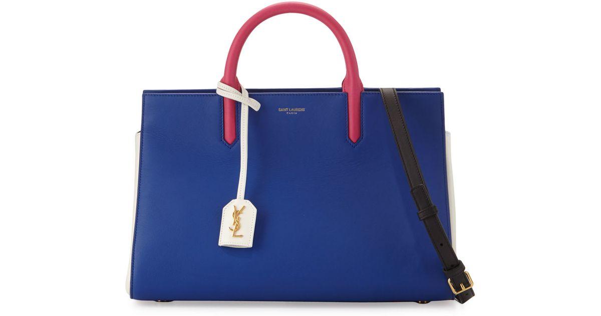 ysl envelope clutch - Saint laurent Rive Gauche Small Leather Tote Bag in Blue (COBALT ...