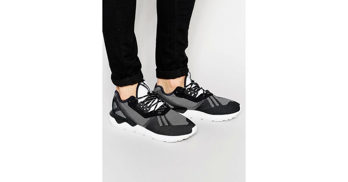 hot sale online 01247 040ac Adidas Originals Black Tubular Runner Weave Sneakers S74813 for men