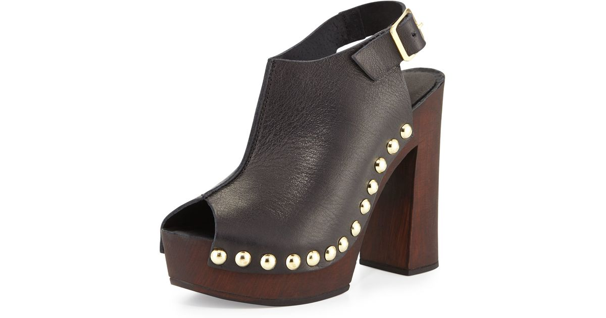 63ed48a0a Lyst - Charles David Ciao Studded Leather Sandal in Black