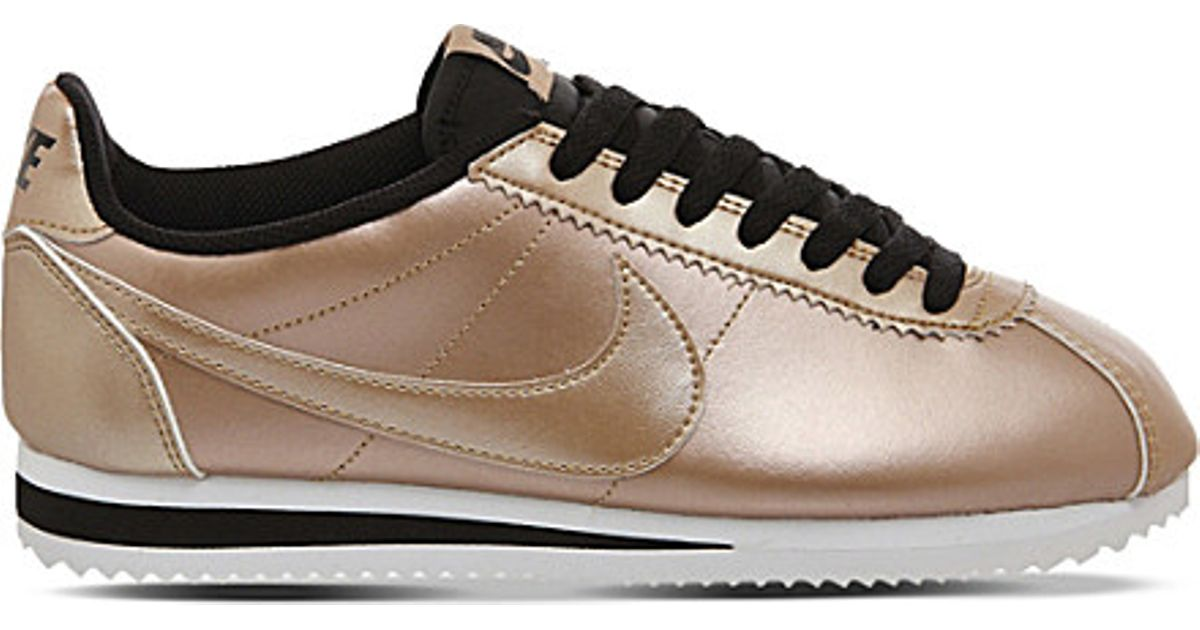 superior quality cfa86 ce165 ... black golden wh b8835 2d7fb  germany lyst nike cortez og metallic  leather trainers in brown 7012a f156c
