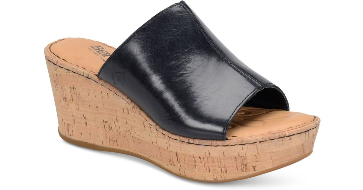 born wedge sandals in black save 20 lyst