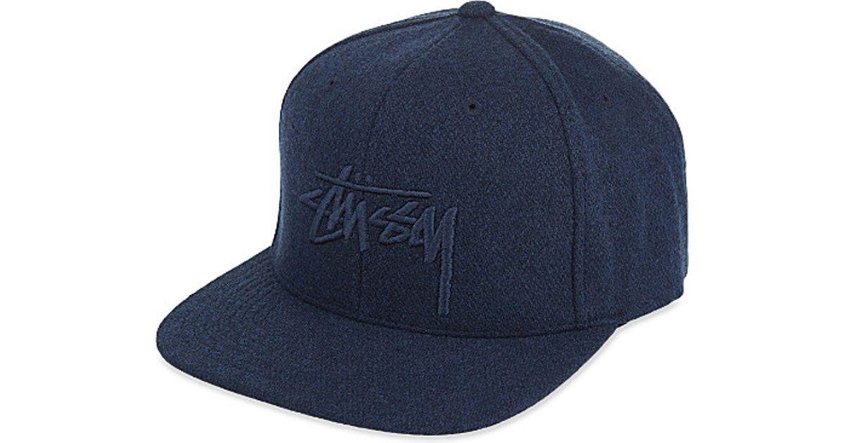 Stussy Stock Tonal Wool Snapback Cap in Blue for Men - Lyst da33912f3ee