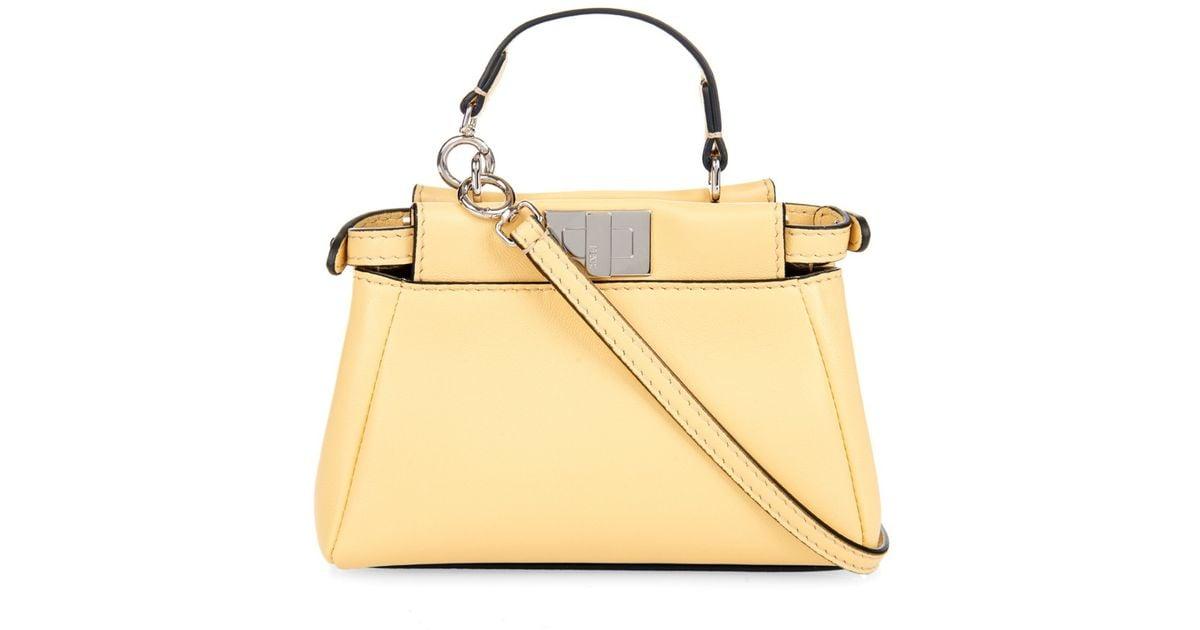 1a8c227a Fendi Yellow Micro Peekaboo Leather Cross-Body Bag